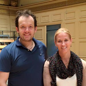 Dionne Jackson with conductor Andris Nelsons